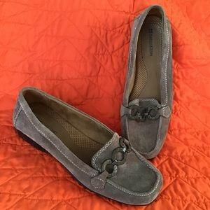 comfy NATURALIZER casper mocha brown suede loafers